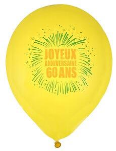 Ballon joyeux anniversaire 60ans