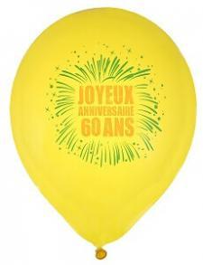 Ballon joyeux anniversaire 60ans (x8) REF/70334