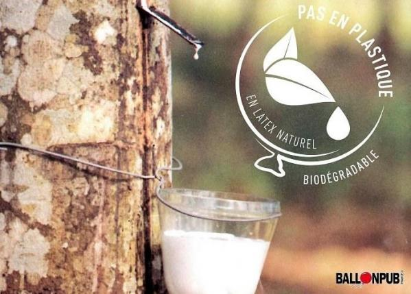 Ballon latex biodegradable naturel de fabrication francaise