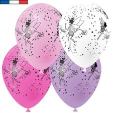 Ballon français petite fée multicolore en latex 30cm (x8) REF/41446