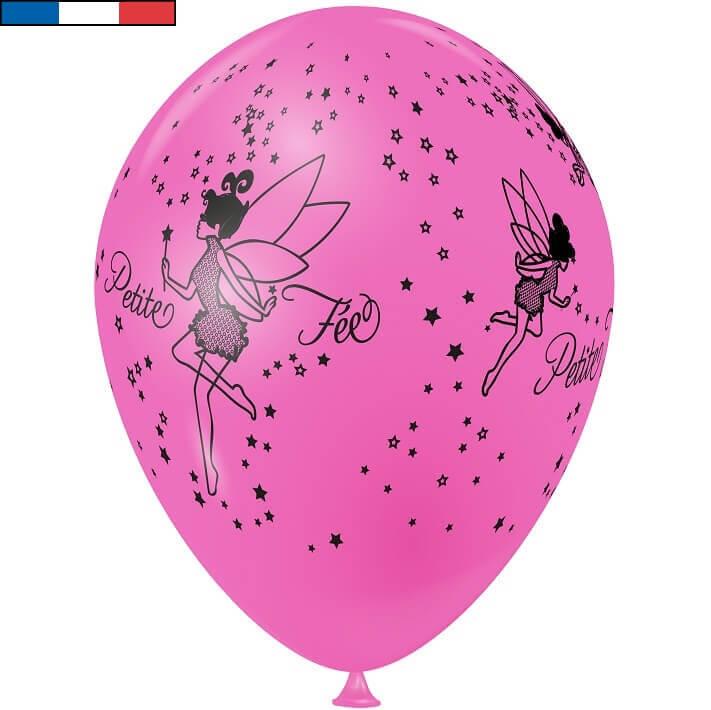 Ballon latex fee de fabrication francaise rose bonbon