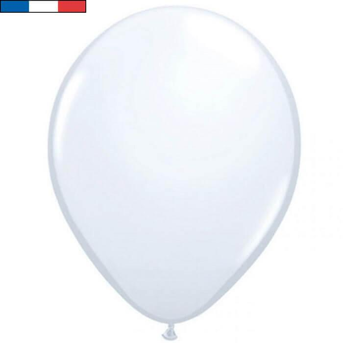 Ballon latex naturel francais 25cm blanc