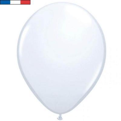 Ballon latex naturel opaque français blanc (x50) REF/31638