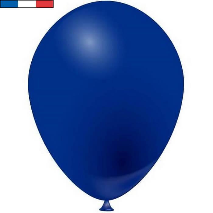 Ballon latex naturel francais 25cm bleu marine
