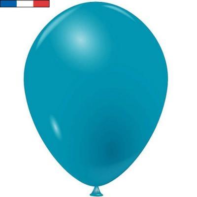Ballon latex naturel opaque français bleu turquoise (x50) REF/33915