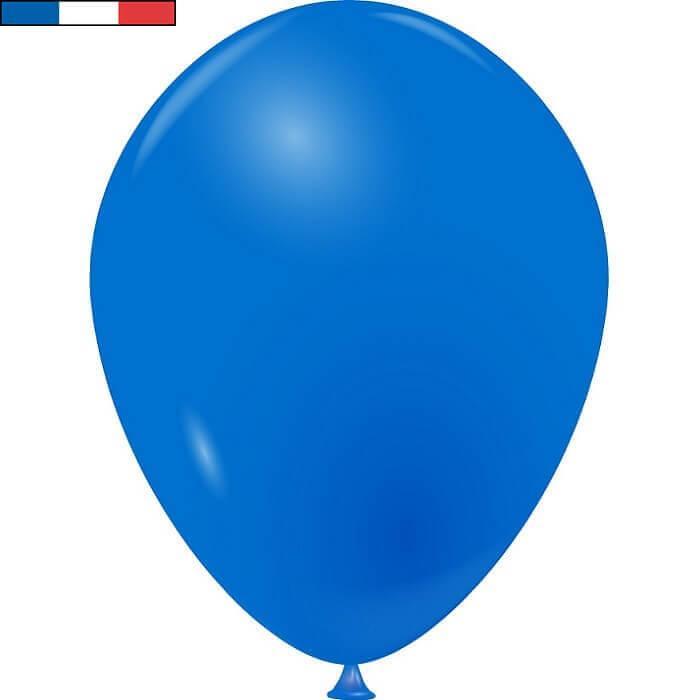 Ballon latex naturel francais 25cm bleu