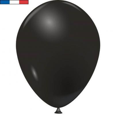 Ballon latex naturel opaque français noir (x50) REF/31669