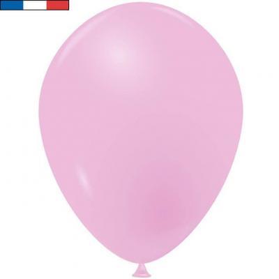 Ballon latex naturel opaque français rose (x50) REF/33847