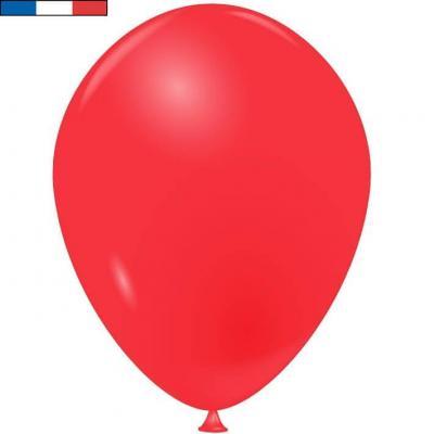 Ballon latex naturel opaque français rouge (x50) REF/31683