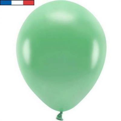 Ballon latex naturel opaque français vert menthe (x50) REF/40241