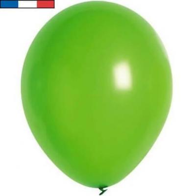 Ballon latex naturel opaque français vert prairie (x50) REF/33892