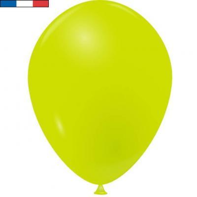 Ballon latex naturel opaque français vert tilleul (x50) REF/31676