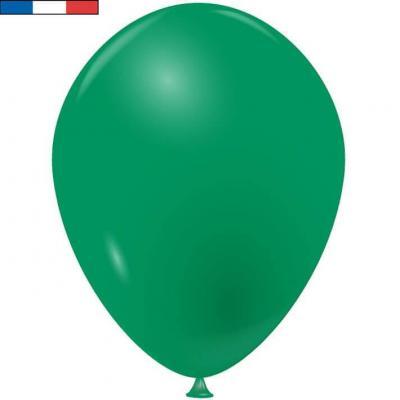 Ballon latex naturel opaque français vert (x50) REF/40234