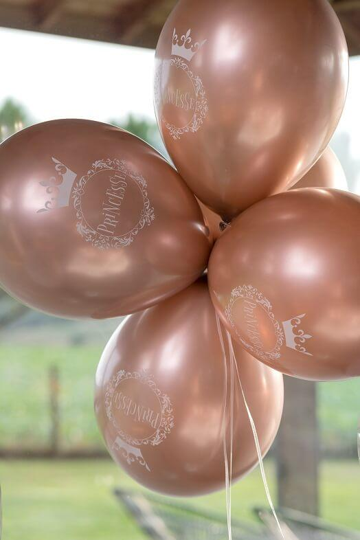 Ballon latex rose gold anniversaire princesse