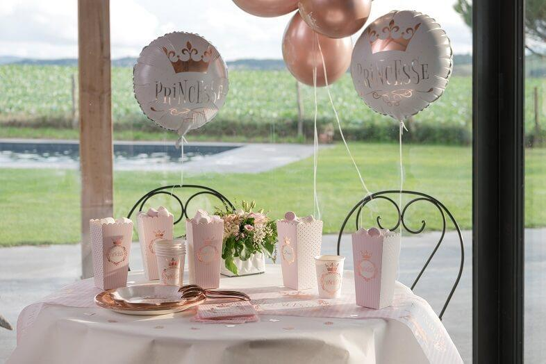 Ballon latex rose gold fete anniversaire princesse