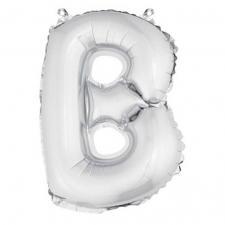 Ballon métallique argent, lettre B (x1) REF/BA3005