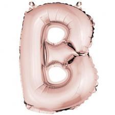Ballon lettre B rose gold en aluminium de 36cm (x1) REF/BA3005