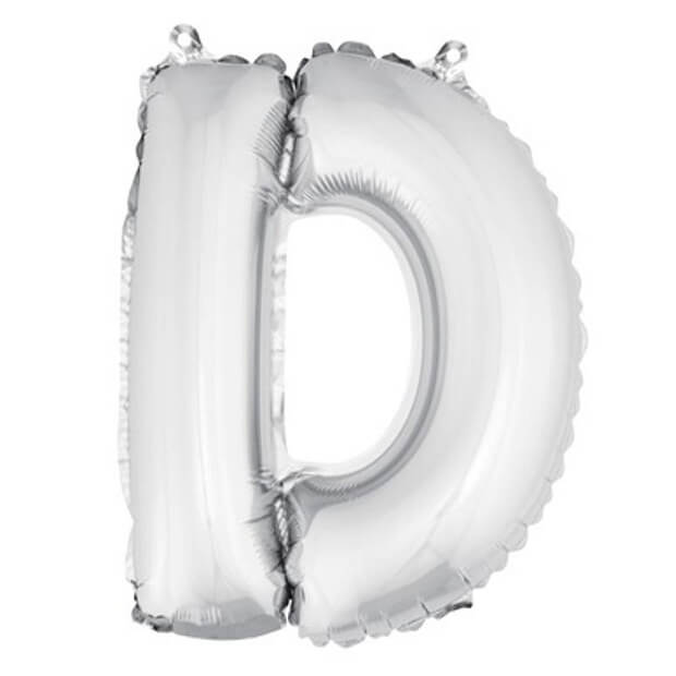 Ballon lettre d metallique argent