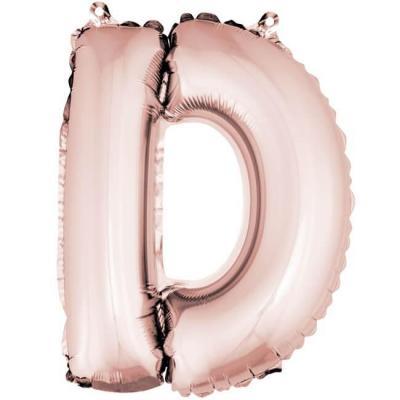 Ballon lettre D rose gold en aluminium de 36cm (x1) REF/BA3005