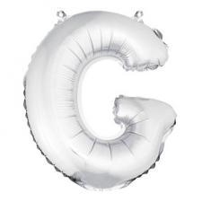 Ballon métallique argent, lettre G (x1) REF/BA3005