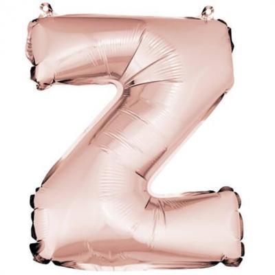 Ballon lettre Z rose gold en aluminium de 36cm (x1) REF/BA3005