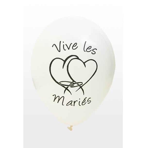 Ballon mariage blanc