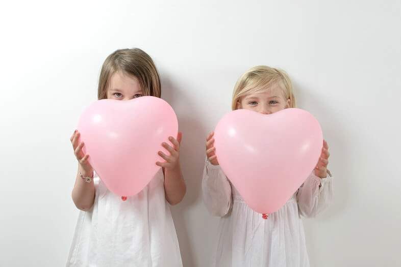 Ballon mariage coeur en latex rose