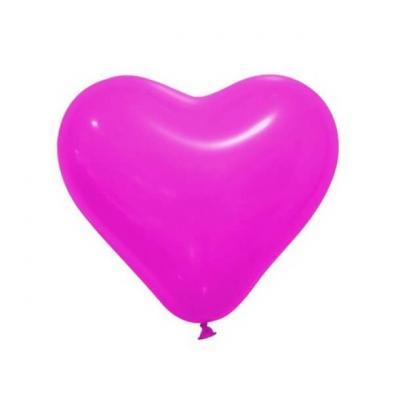 Ballon coeur fuchsia (x12) REF/BAL196