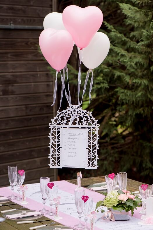 Ballon mariage coeur rose en latex