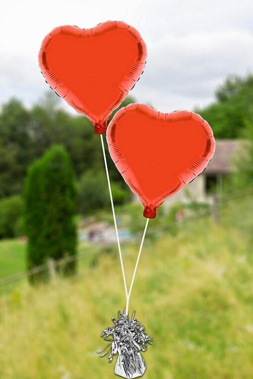 Ballon mariage coeur rouge pour decoration de salle