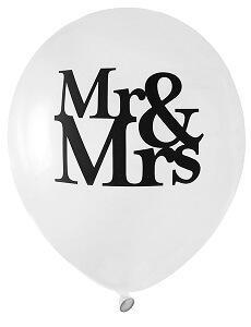 Ballon mariage: Mr & Mrs (x8) REF/4829