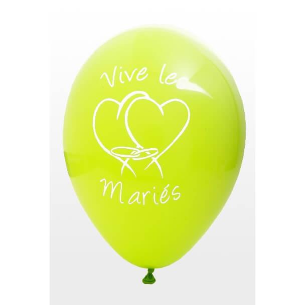 Ballon mariage vert