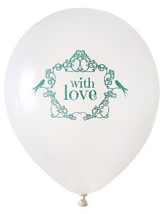 Ballon mariage vintage vert