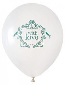 Ballon mariage: Vintage mint (x8) REF/4828