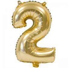 Ballon métallique anniversaire 2ans or 36cm (x1) REF/BA3000