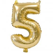 Ballon métallique anniversaire 5ans or 36cm (x1) REF/BA3000