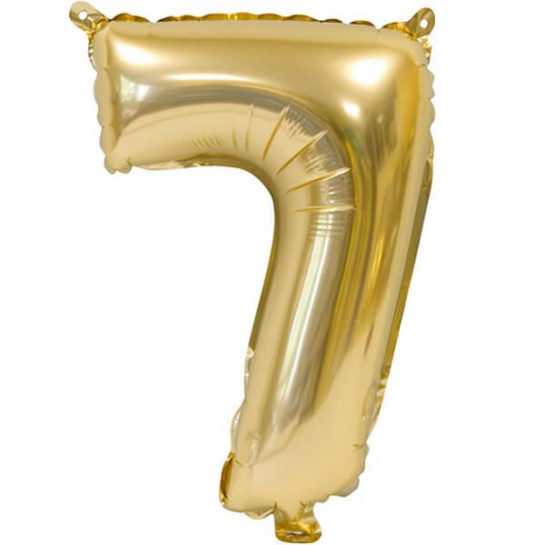 Ballon metallique anniversaire 7 ans or