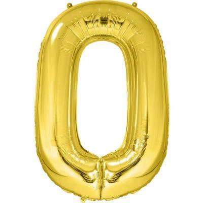 Ballon géant anniversaire chiffre 0 or (x1) REF/BA3012