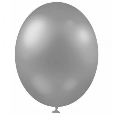 Ballon métallique argent, 30cm (x25) REF/BALC05
