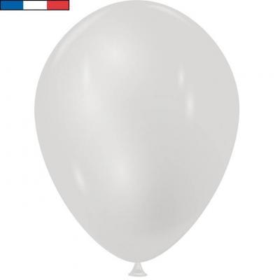 Ballon métallique français en latex argent 30cm (x10) REF/31690