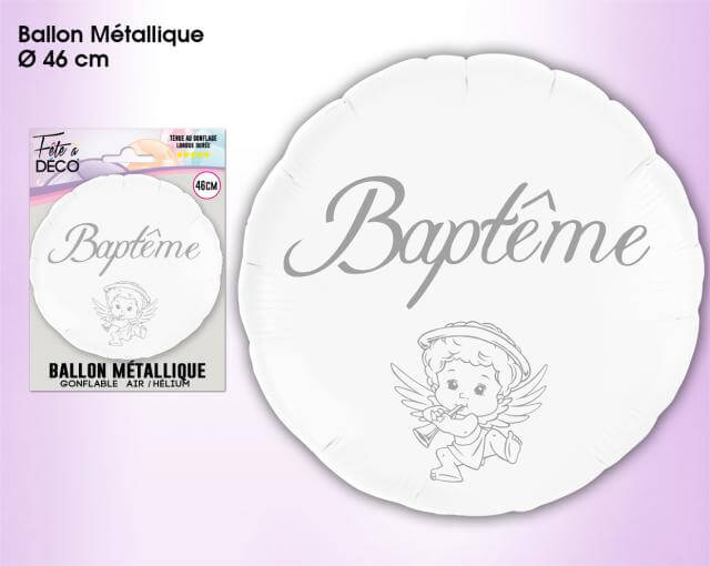 Ballon metallique bapteme