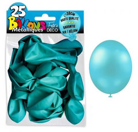 Ballon metallique bleu ciel