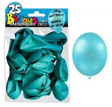 Ballon métallique bleu ciel, 30cm (x25) REF/BALC14