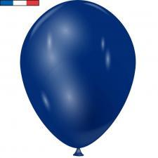 Ballon métallique français en latex bleu marine 30cm (x10) REF/