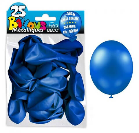 Ballon metallique bleu marine