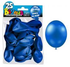 Ballon métallique bleu marine, 30cm (x25) REF/BALC16