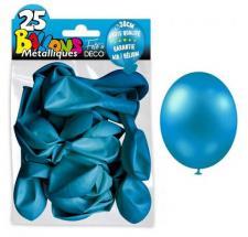 Ballon métallique bleu, 30cm (x25) REF/BALC15