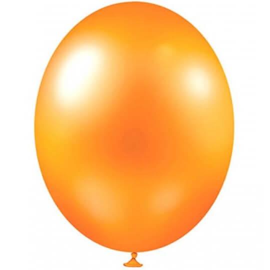 Ballon metallique corail en latex de 30cm