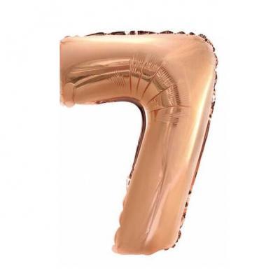 Ballon 36cm métal cuivre chiffre 7 (x1) REF/BALM0CUC07