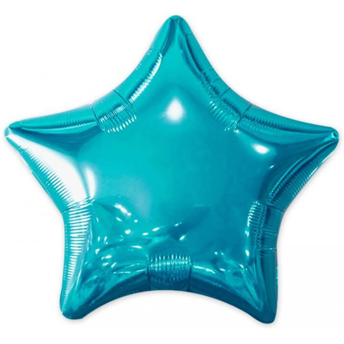 Ballon metallique etoile bleu
